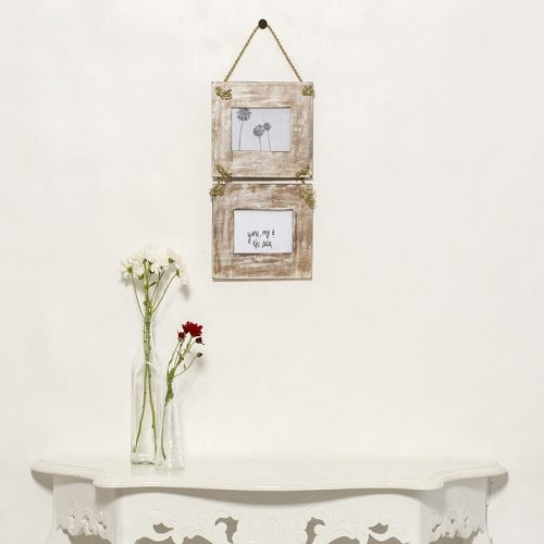 Double Hanging Photo Frame - Natural