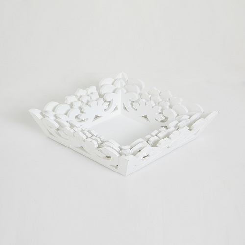 White Trays Set of 3