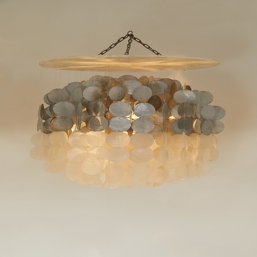SILVER AND WHITE CHANDELIER - SMALL