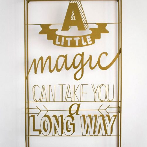A Little Magic Wall Art (GOLDEN)