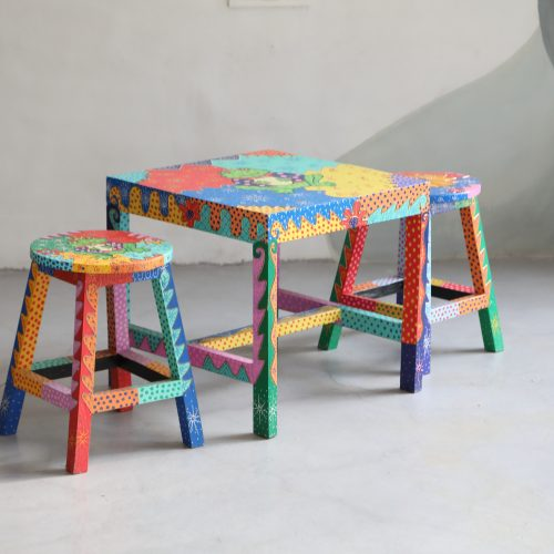 Kids Hand Painted Stools - Frog