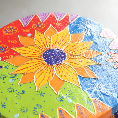 Kids Hand Painted Stools - Sunflower