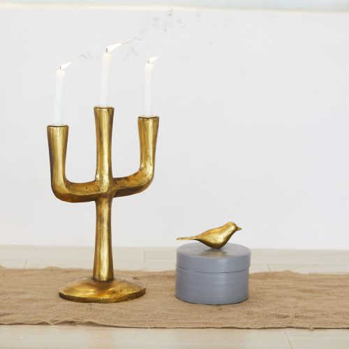 Gold Cacti Candle Stand
