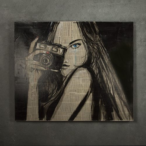 Feel The Paparazzi Newspaper Painting